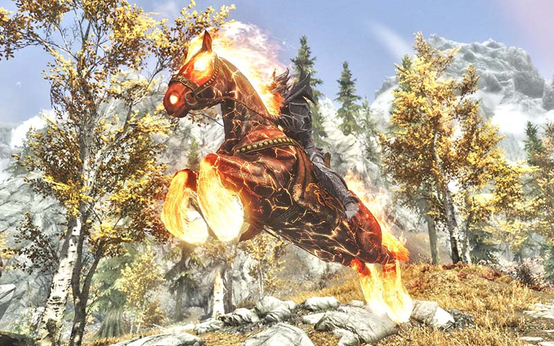 how to keep horse in skyrim