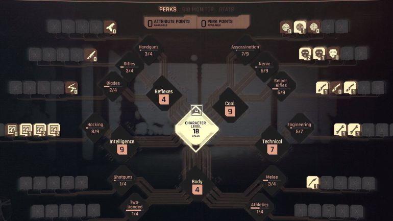 Cyberpunk 2077 personnalisation talent arbre de compétence