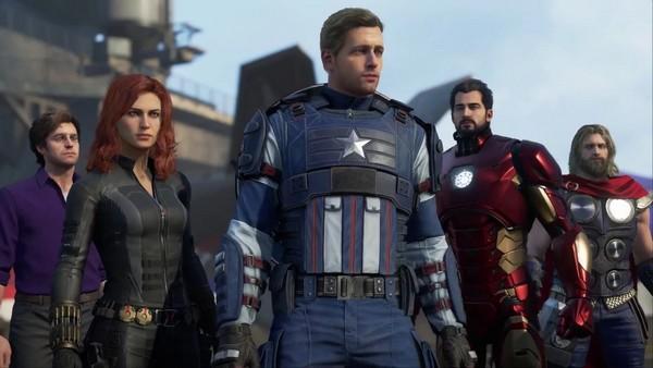 Team Marvel's Avengers : Captain America, Hulk, Thor, Ironman