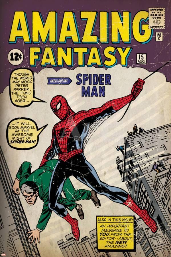 Couverture du Amazing Fantasy comics, numéro 15