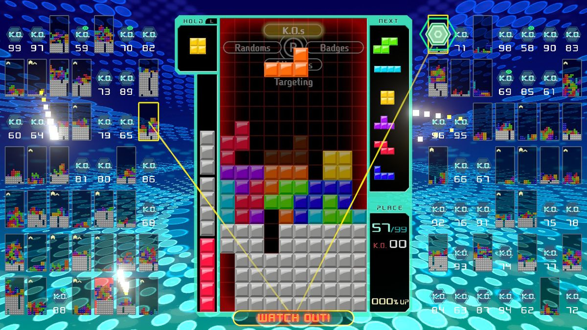 Tetris 99 battle royale battle
