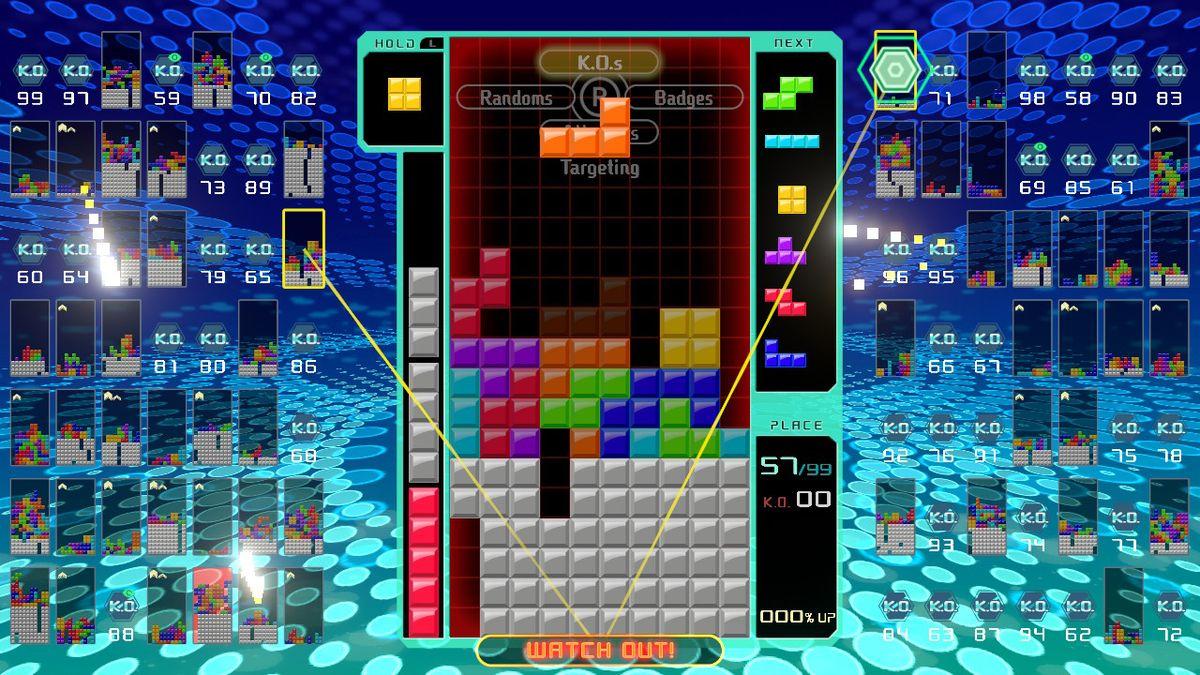 Tetris 99 battle royale battle