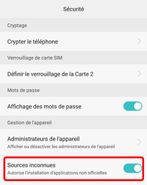 activer sources inconnues SP idle heroes