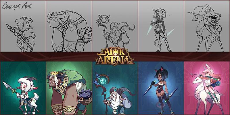 afk arena wilder heroes concept art