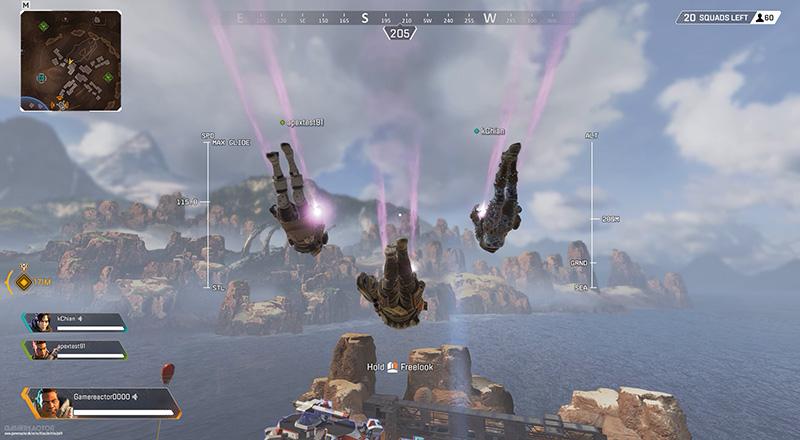 apex legends ou atterrir jumpmaster aide
