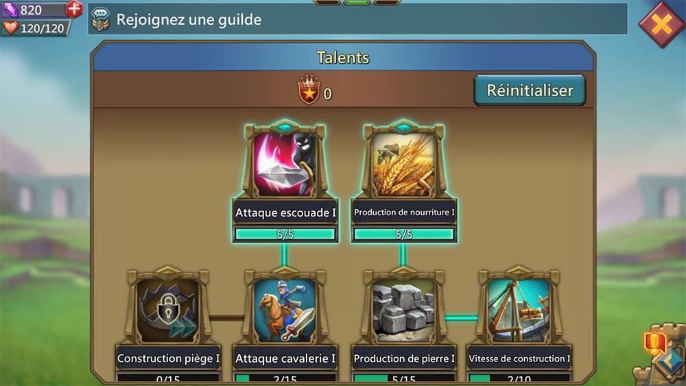 arbre compétences héros lords mobile