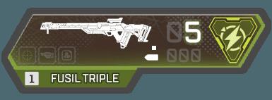 arme fusil triple