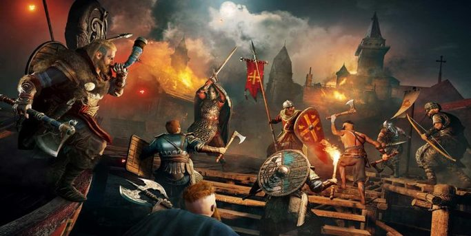assassin's creed valhalla combat siège de château