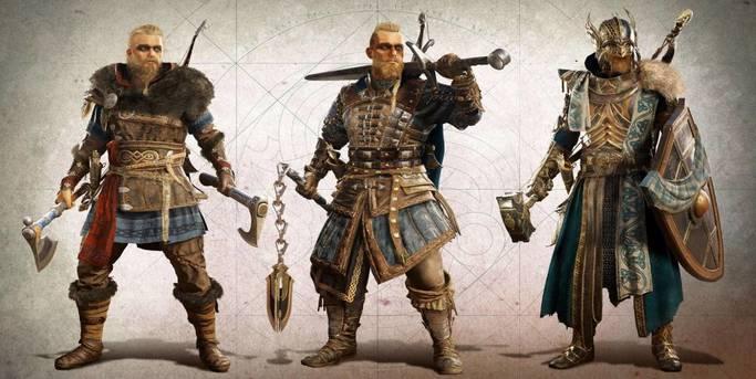 assassin's creed valhalla eivor armures viking mediavale