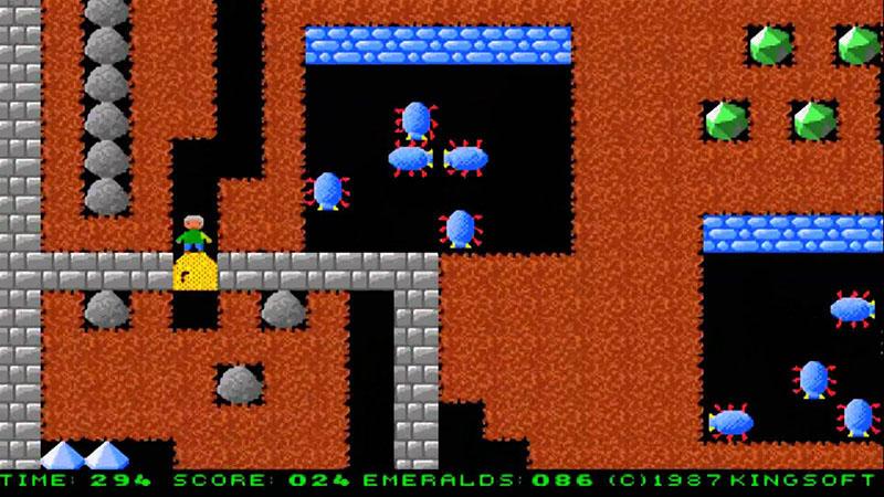 boulder dash retro gaming screenshot