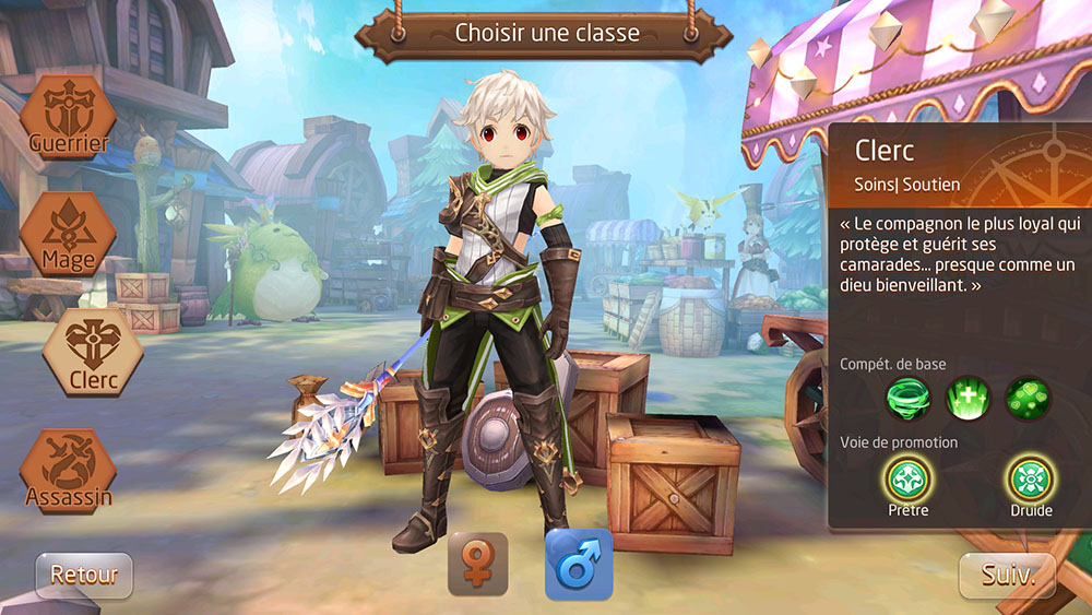 Classe clerc de tales of wind