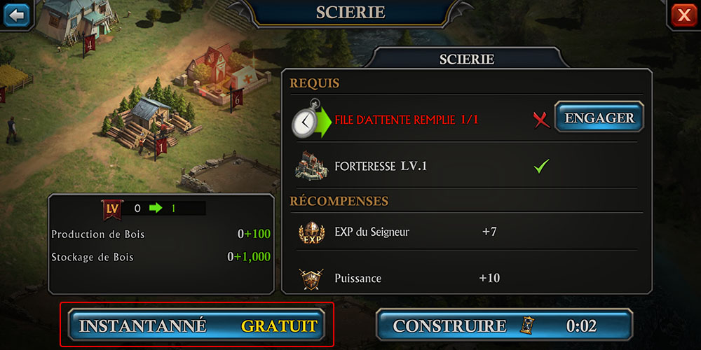 construction rapide gratuite king of avalon