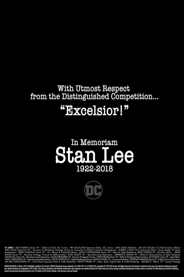 dc comics hommage stan lee in memoriam tribute