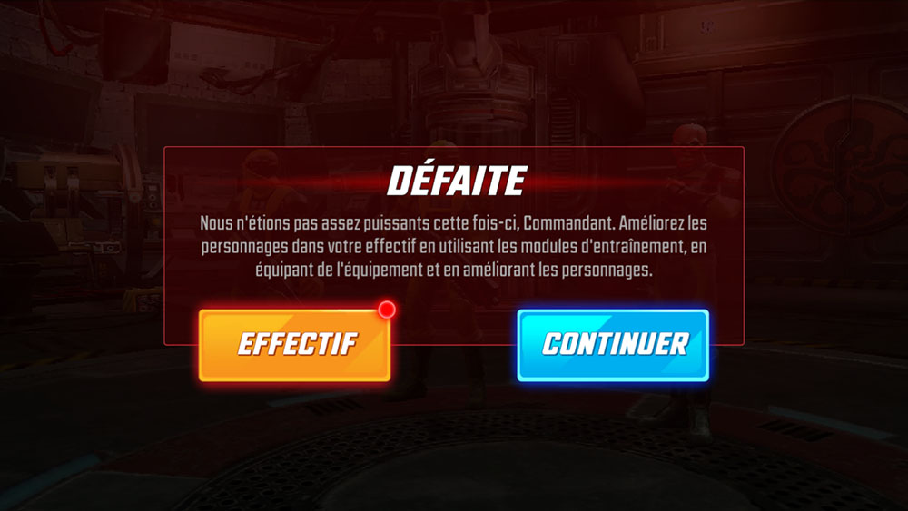 défaite marvel strike force