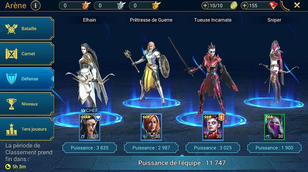 équipe de défense raid shadow legends