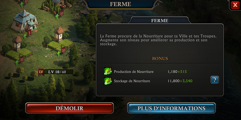 erreur ferme guide king of avalon