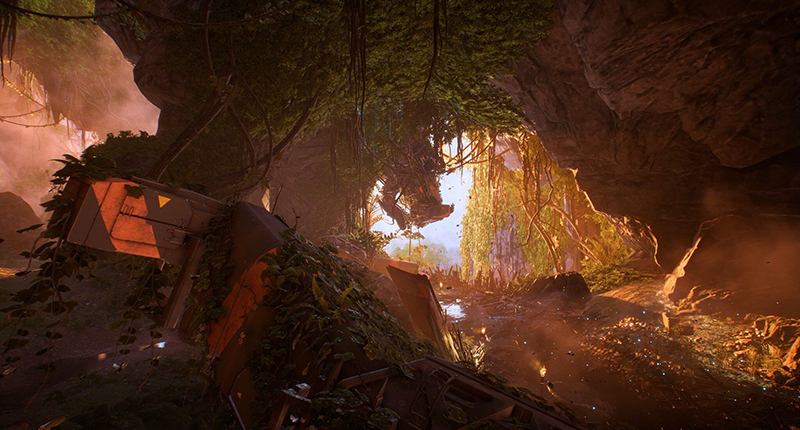 flore anthem lore screenshot debris arche
