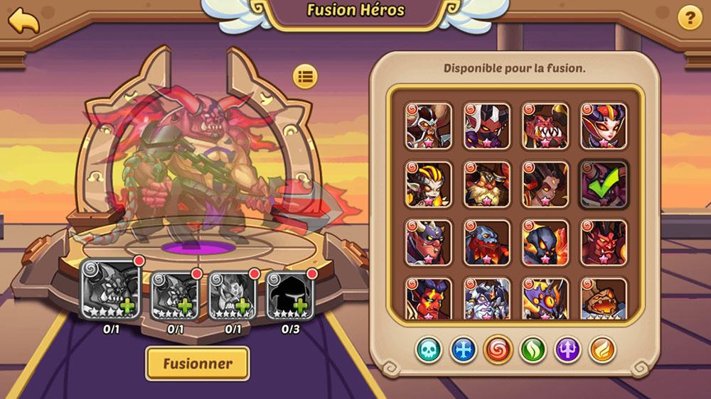 fusion héros 5 étoiles verrouiller idle heroes