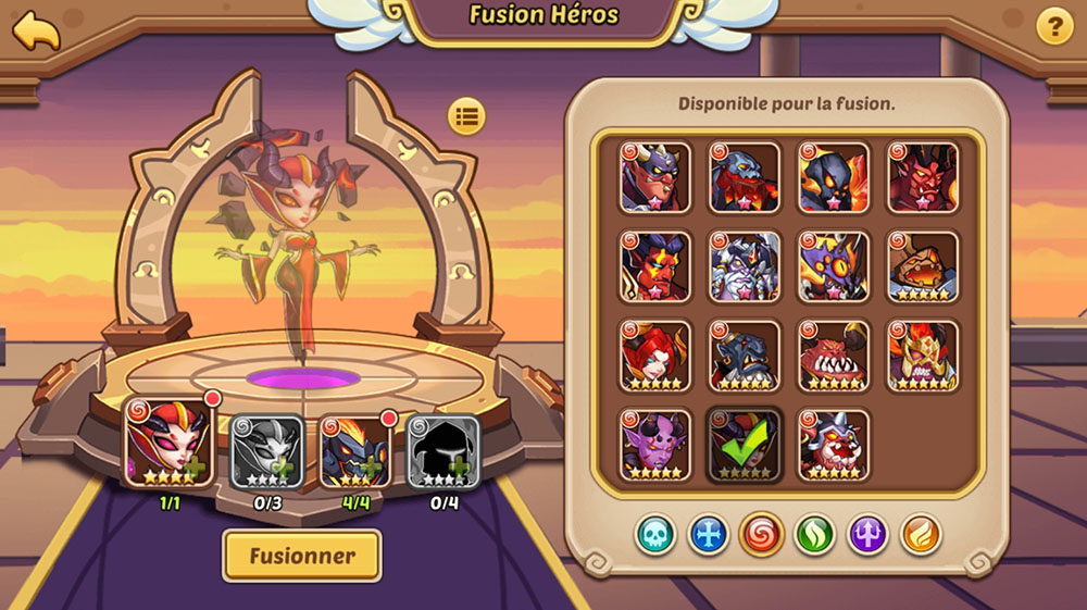 fusion héros idle heroes