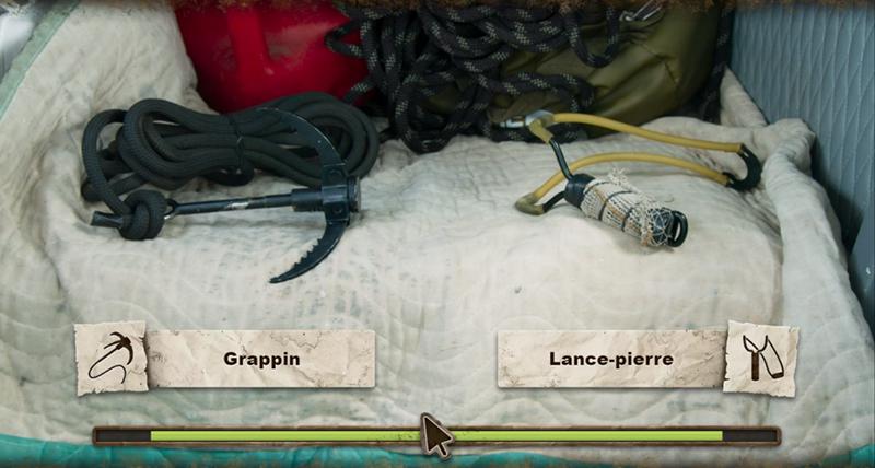 grappin ou lance pierre choix you vs wild
