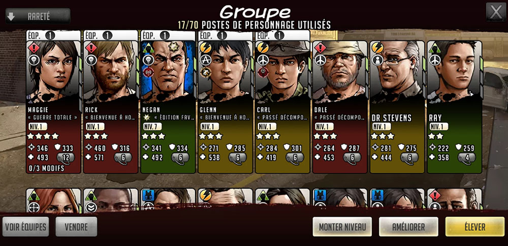 groupe de personnages twd rts