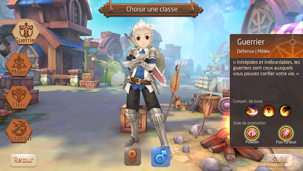Classe guerrier de tales of wind