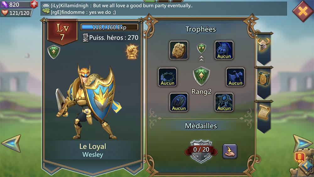 héros le loyal meilleure équipe lords mobile