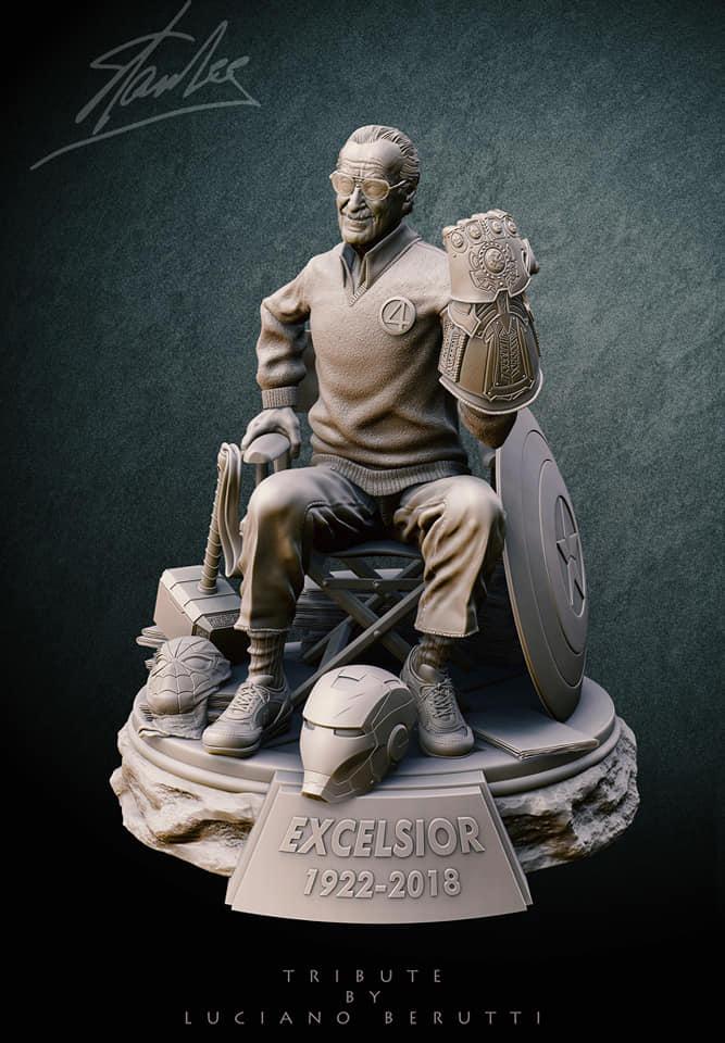 hommage stan lee tribute figurine luciano berutti