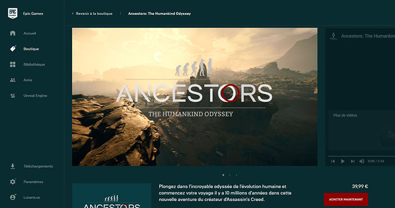 image ancestors humankind odyssey disponible sur egs