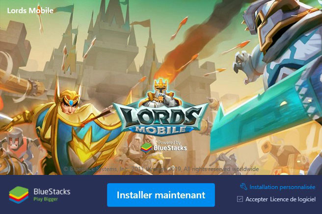 installer bluestacks pour lords mobile