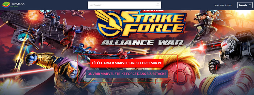 installer émulateur marvel strike force