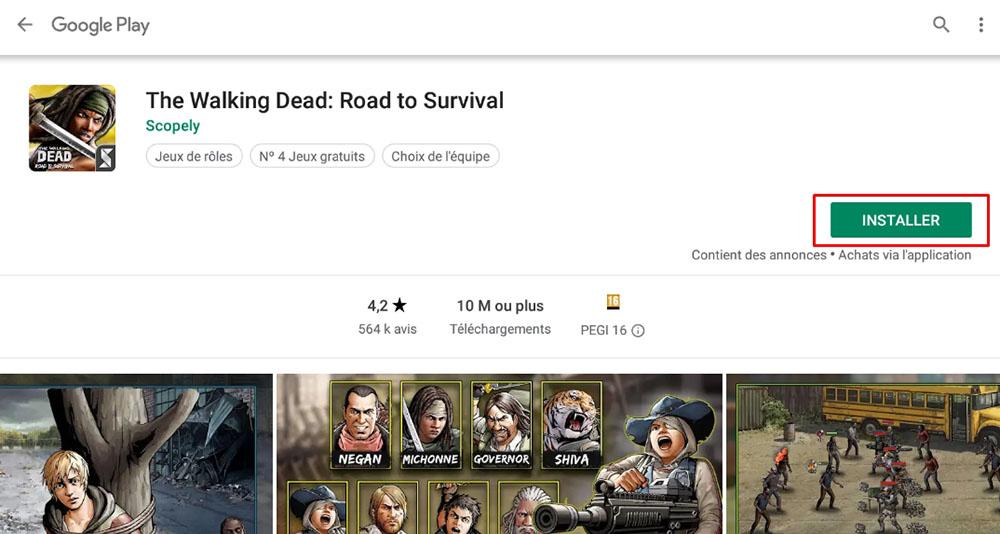 installer walking dead road to survival pc