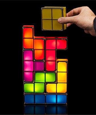 lampe tetris chambre gamer idee deco