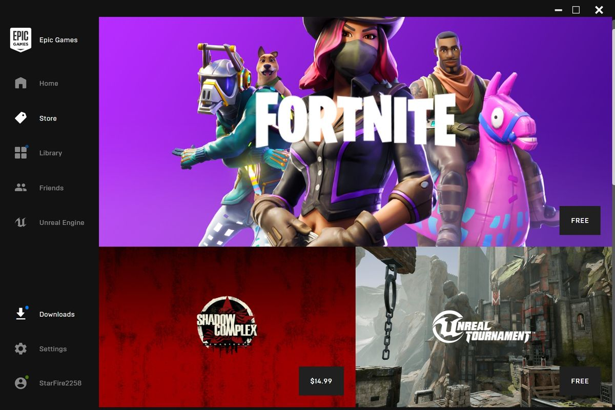 launcher epic games store