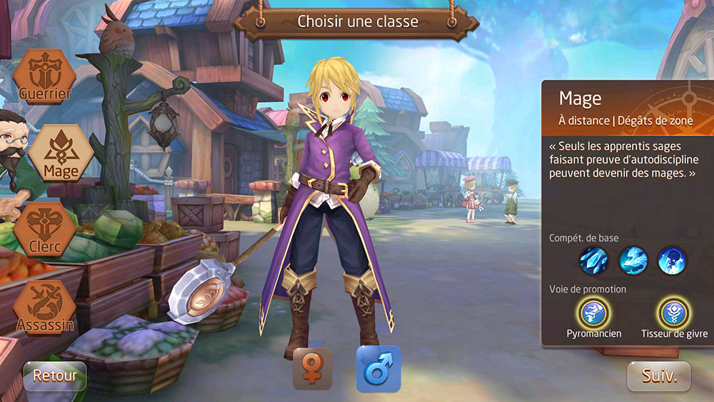 Classe mage de tales of wind