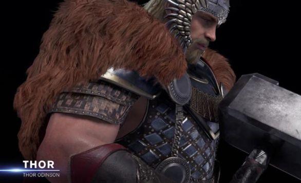 marvel avenger jeu thor skin viking