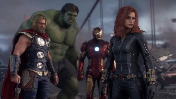 Team Marvel's Avengers : Hulk, Thor, Ironman, Black Widows