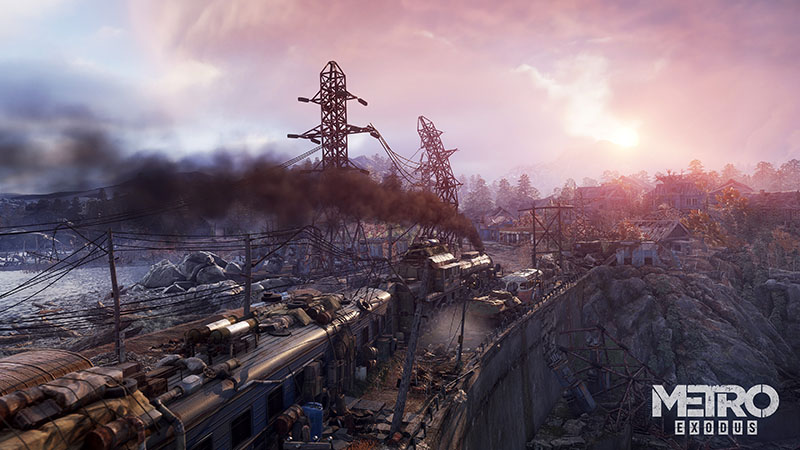 metro exodus screenshot paysage train cover