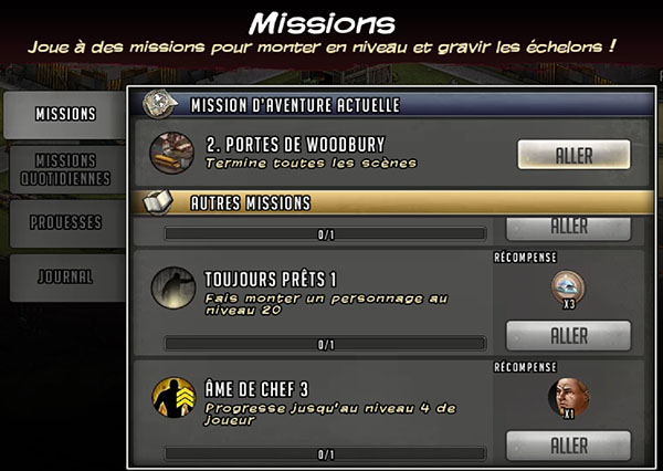 missions twd road to survival