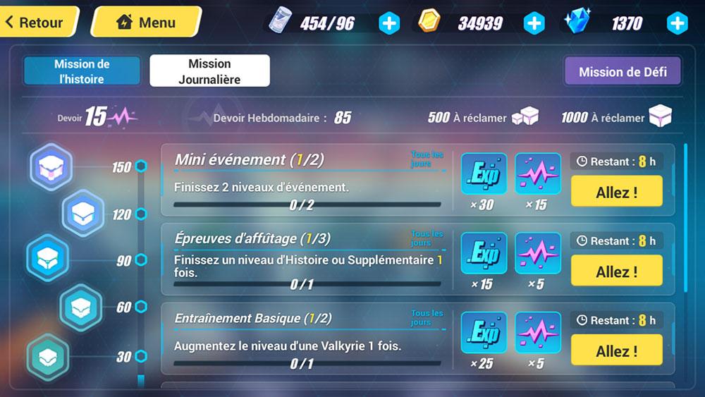 missions xp honkai impact 3rd