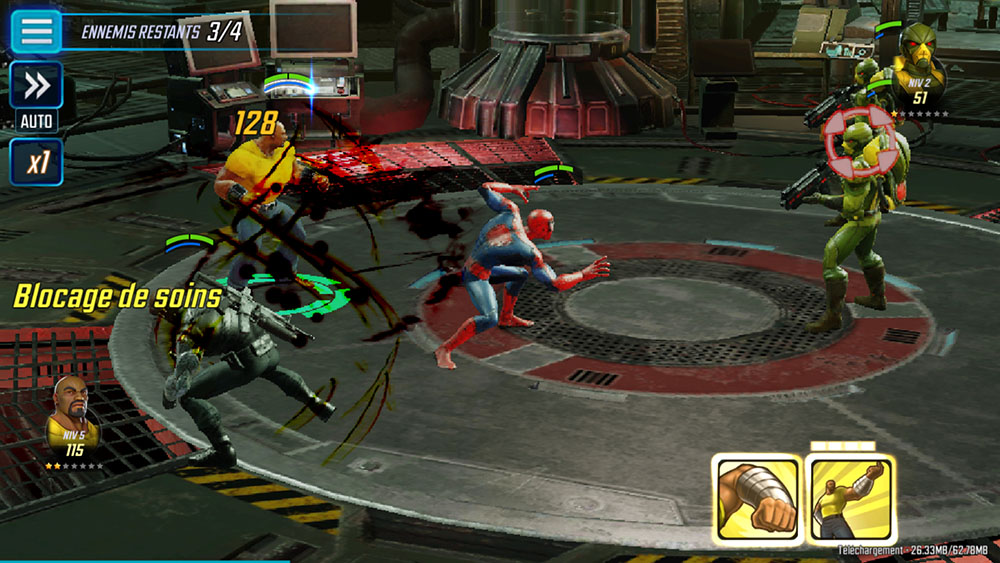 mode combat marvel strike force