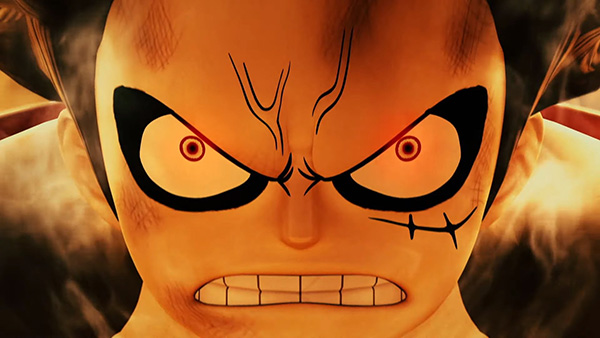 one piece pirate warriors 4 reveal trailer luffy face en colere