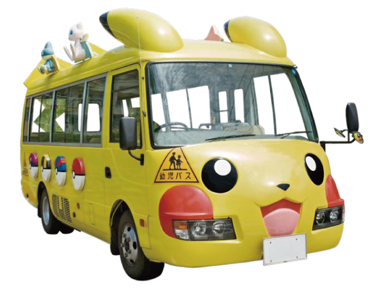 pokemon car voiture bus pikachu