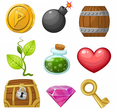potions bombes item mobile game free rpg