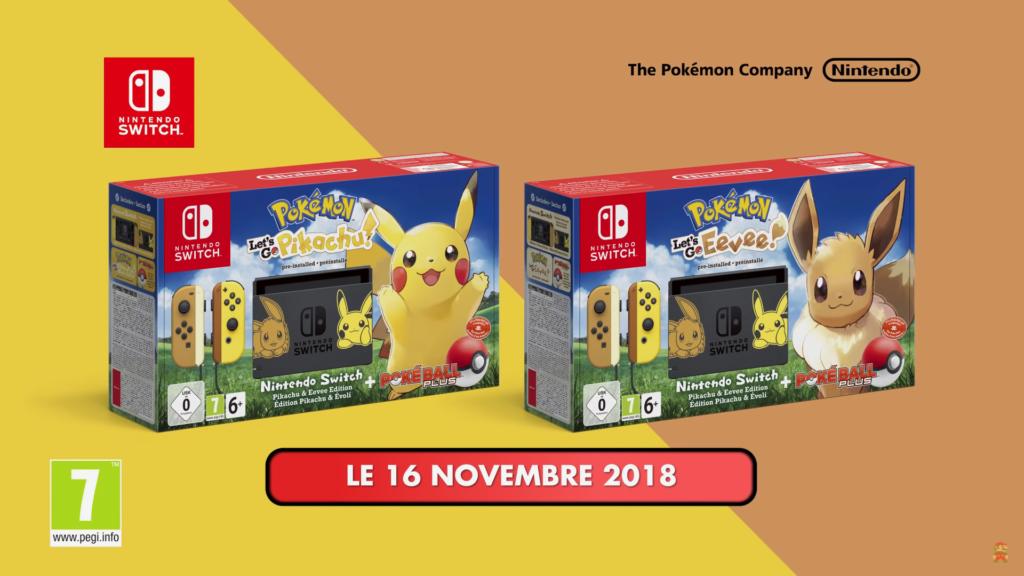 precommande bundles nintendo switch pokemon lets go pikachu evoli