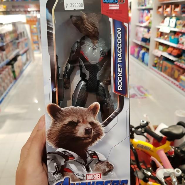 racoon figurine espace avengers endgame