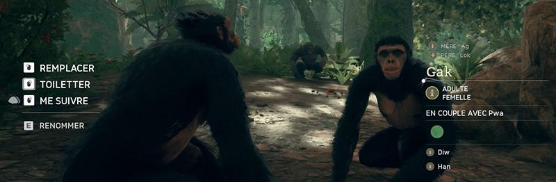remplacer un singe changer de personnage ancestors
