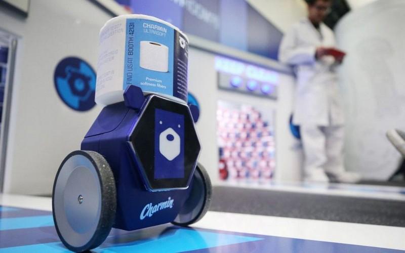 Photo du robot ourson qui ramène le PQ du CES 2020