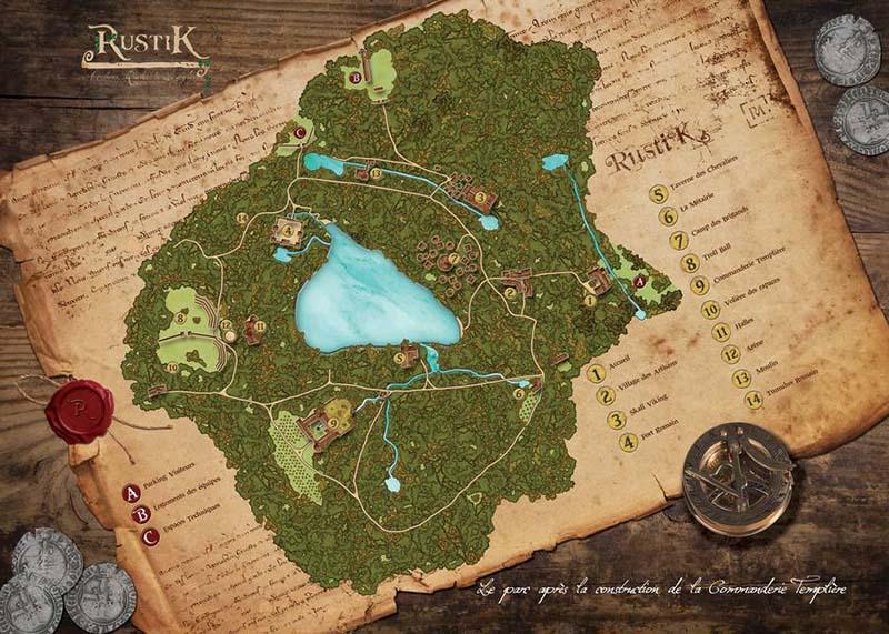 rustik carte parc medieval geek roleplay