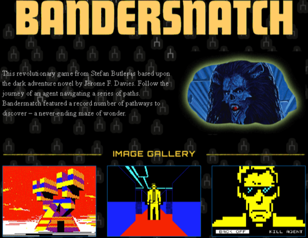 site officiel bandersnatch easter egg jeu black mirror